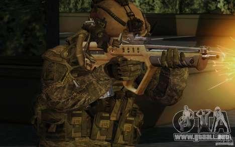Tavor Tar-21 Desert para GTA San Andreas segunda pantalla
