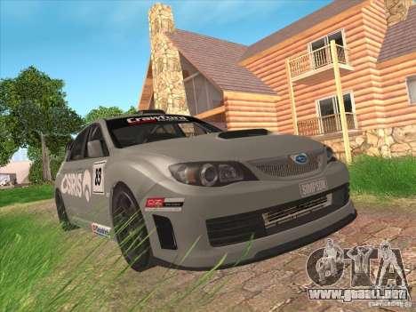 Subaru Impreza WRX STI N14 Gymkhana para la vista superior GTA San Andreas
