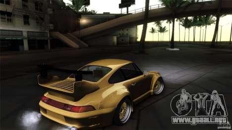 Porsche 993 RWB para visión interna GTA San Andreas