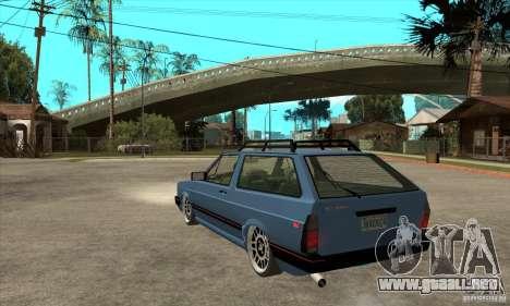 VW Fox 1989 v.2.0 para GTA San Andreas vista posterior izquierda