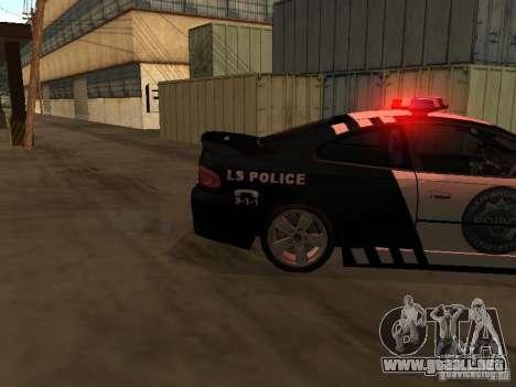 Pontiac GTO Police para GTA San Andreas vista posterior izquierda