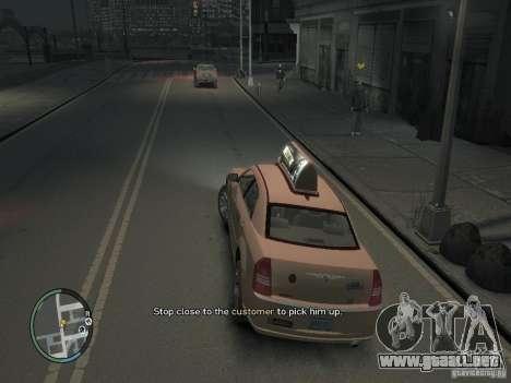 La misión de taxista para GTA 4 para GTA 4 adelante de pantalla