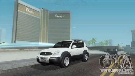 SsangYong Rexton 2005 para el motor de GTA San Andreas