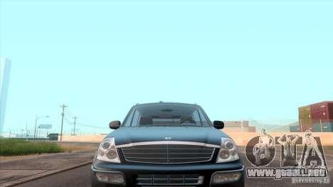 SsangYong Rexton 2005 para GTA San Andreas interior