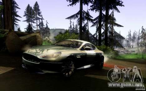 Aston Martin Virage V1.0 para GTA San Andreas vista posterior izquierda