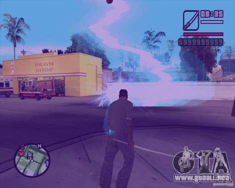 Chidory Mod para GTA San Andreas sucesivamente de pantalla