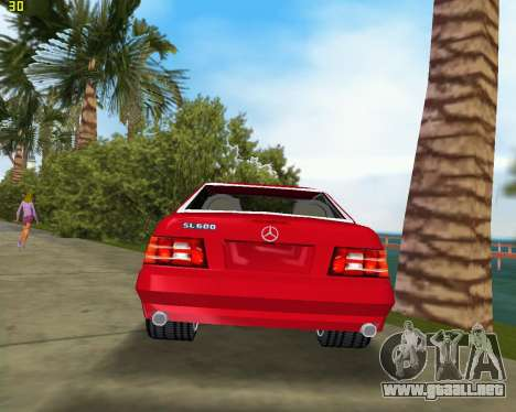 Mercedes-Benz SL600 1999 para GTA Vice City visión correcta