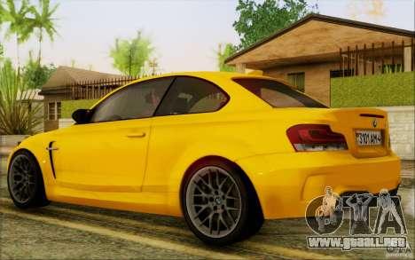 BMW 1M Coupe para la visión correcta GTA San Andreas