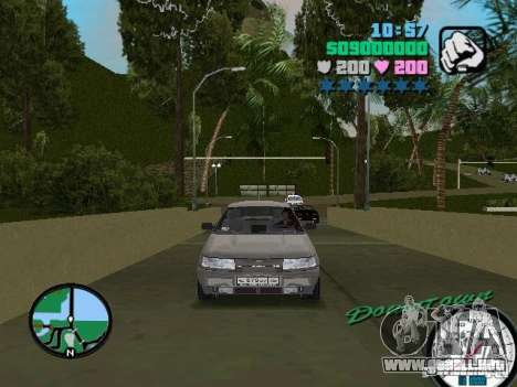 VAZ-2112 para GTA Vice City vista lateral izquierdo