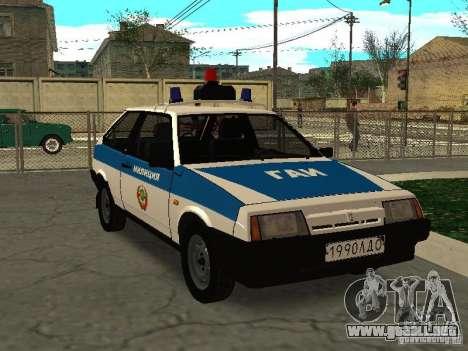 VAZ 2108 policía para GTA San Andreas