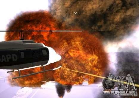 Nuevos efectos de explosiones para GTA San Andreas sexta pantalla