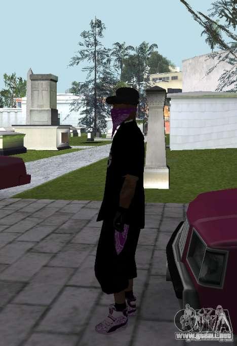 New Ballas Skin para GTA San Andreas tercera pantalla
