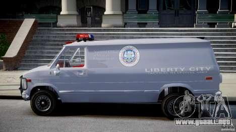 Chevrolet G20 Police Van [ELS] para GTA 4 left
