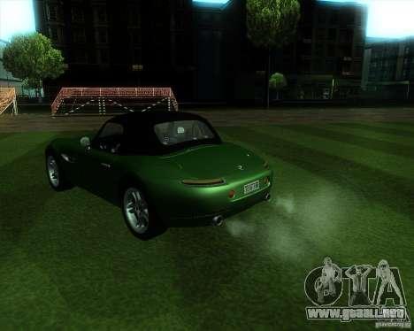 BMW Z8 para GTA San Andreas vista posterior izquierda