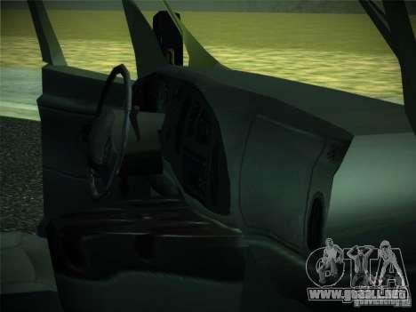 Ford E150 2000 para GTA San Andreas vista hacia atrás
