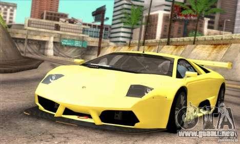 Lamborghini Murcielago R-SV GT1 para GTA San Andreas vista hacia atrás