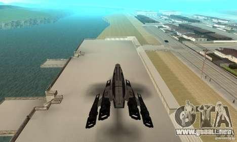 S.S.V. NORMANDY-SR 2 para GTA San Andreas vista hacia atrás