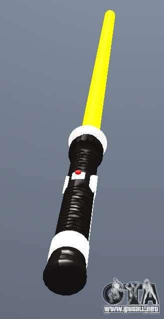 Lightsabre v2 Yellow para GTA San Andreas