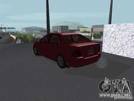 Toyota Corolla Sedan para GTA San Andreas vista posterior izquierda