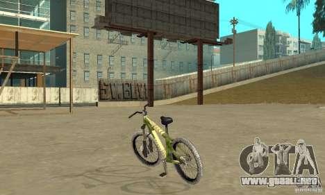Hardy 3 Dirt Bike para GTA San Andreas vista posterior izquierda