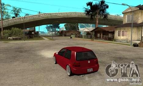 VW Golf 4 V6 Bolf para GTA San Andreas vista posterior izquierda