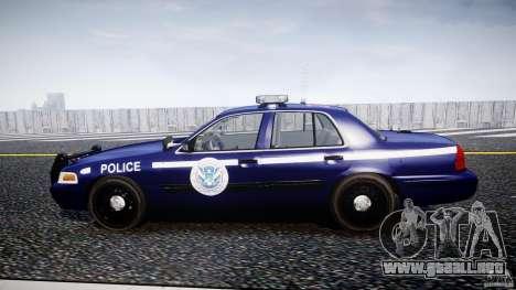 Ford Crown Victoria Homeland Security [ELS] para GTA 4 left