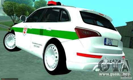 Audi Q5 TDi - Policija para GTA San Andreas left