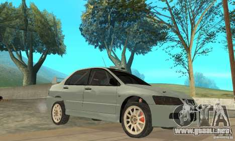 Mitsubishi Lancer Evolution IX para vista lateral GTA San Andreas
