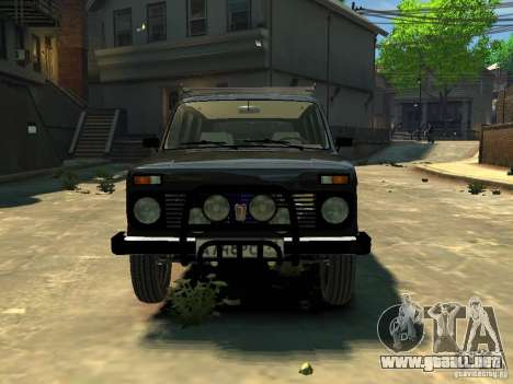 Vaz 2131 Niva para GTA 4 Vista posterior izquierda