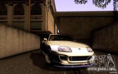 Toyota Supra D1 1998 para la vista superior GTA San Andreas