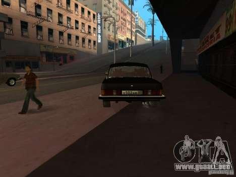GAZ 3102 para GTA San Andreas vista posterior izquierda