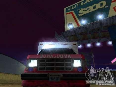 Ambulance 1987 San Andreas para visión interna GTA San Andreas