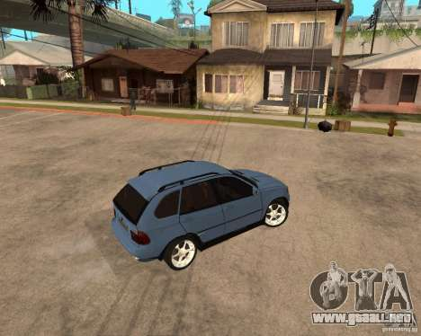 BMW X5 para visión interna GTA San Andreas