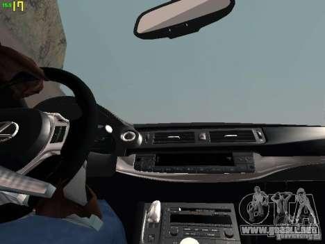 Lexus CT200H Japanese Police para la vista superior GTA San Andreas