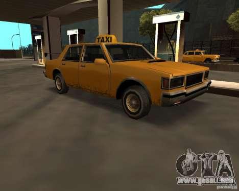 LV Taxi para GTA San Andreas vista posterior izquierda