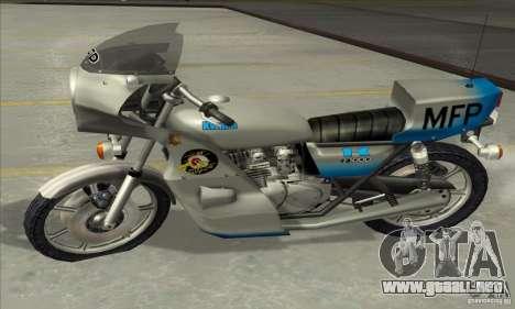 Kawasaki KZ1000 MFP para GTA San Andreas vista hacia atrás