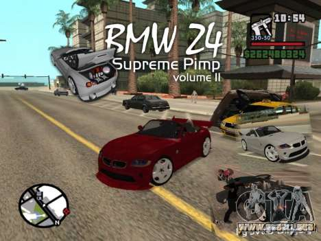 BMW Z4 Supreme Pimp TUNING volume II para GTA San Andreas