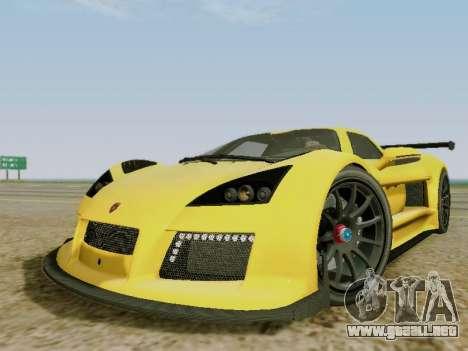 Gumpert Apollo S 2012 para GTA San Andreas left
