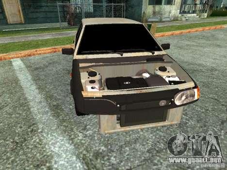 ВАЗ 2114 Hobo para GTA San Andreas vista posterior izquierda
