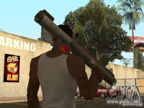 LAW Rocket launcher para GTA San Andreas segunda pantalla