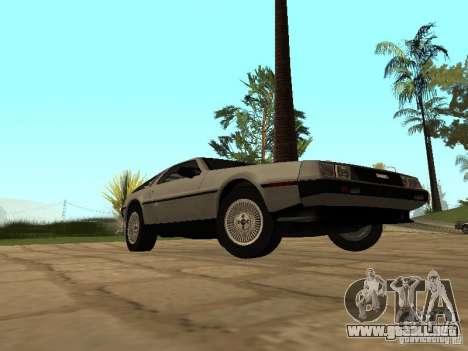 DeLorean DMC-12 1982 para la visión correcta GTA San Andreas