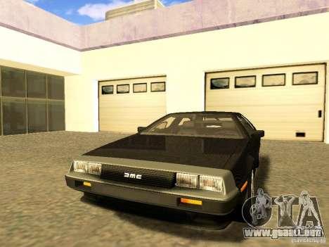 DeLorean DMC-12 V8 para visión interna GTA San Andreas