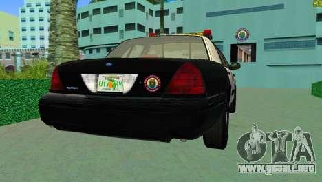 Ford Crown Victoria Police 2003 para GTA Vice City left