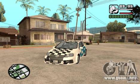 VW Golf R32 Tunable para visión interna GTA San Andreas