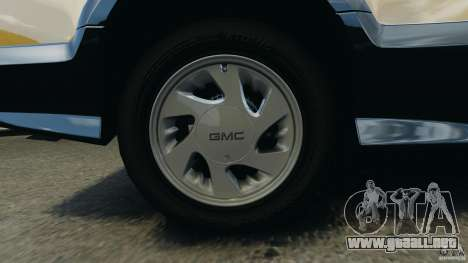 GMC Typhoon v1.1 para GTA 4 vista superior