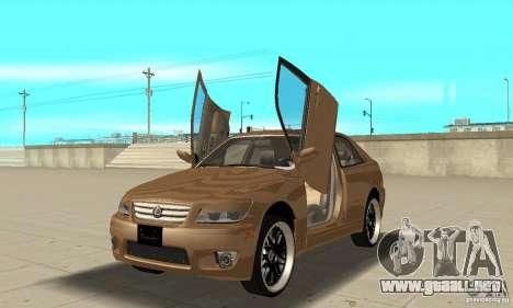 Lexus IS300 2005 para visión interna GTA San Andreas