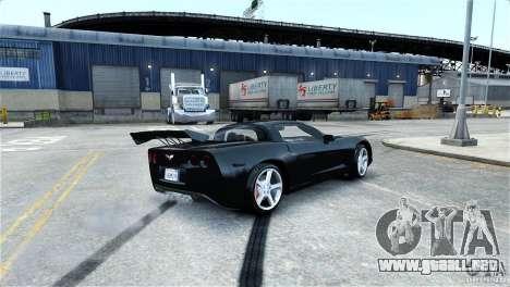 Chevrolet Corvette C6 Convertible v1.0 para GTA 4 ruedas