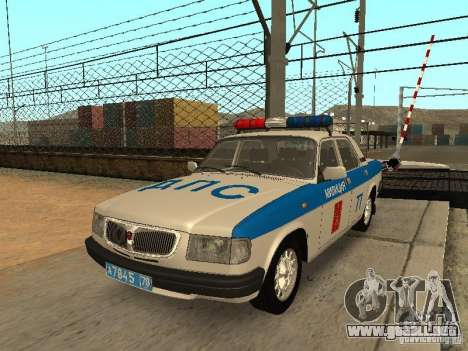 GAZ 3110 policía para GTA San Andreas