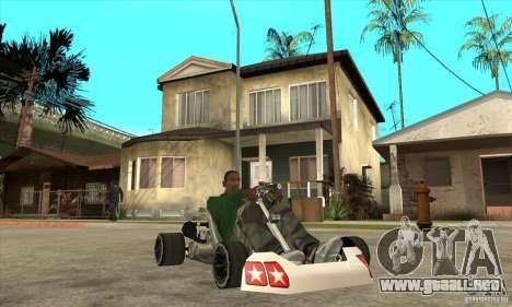 Stage 6 Kart Beta v1.0 para GTA San Andreas vista hacia atrás