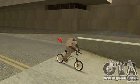 BMX nueva para GTA San Andreas vista hacia atrás